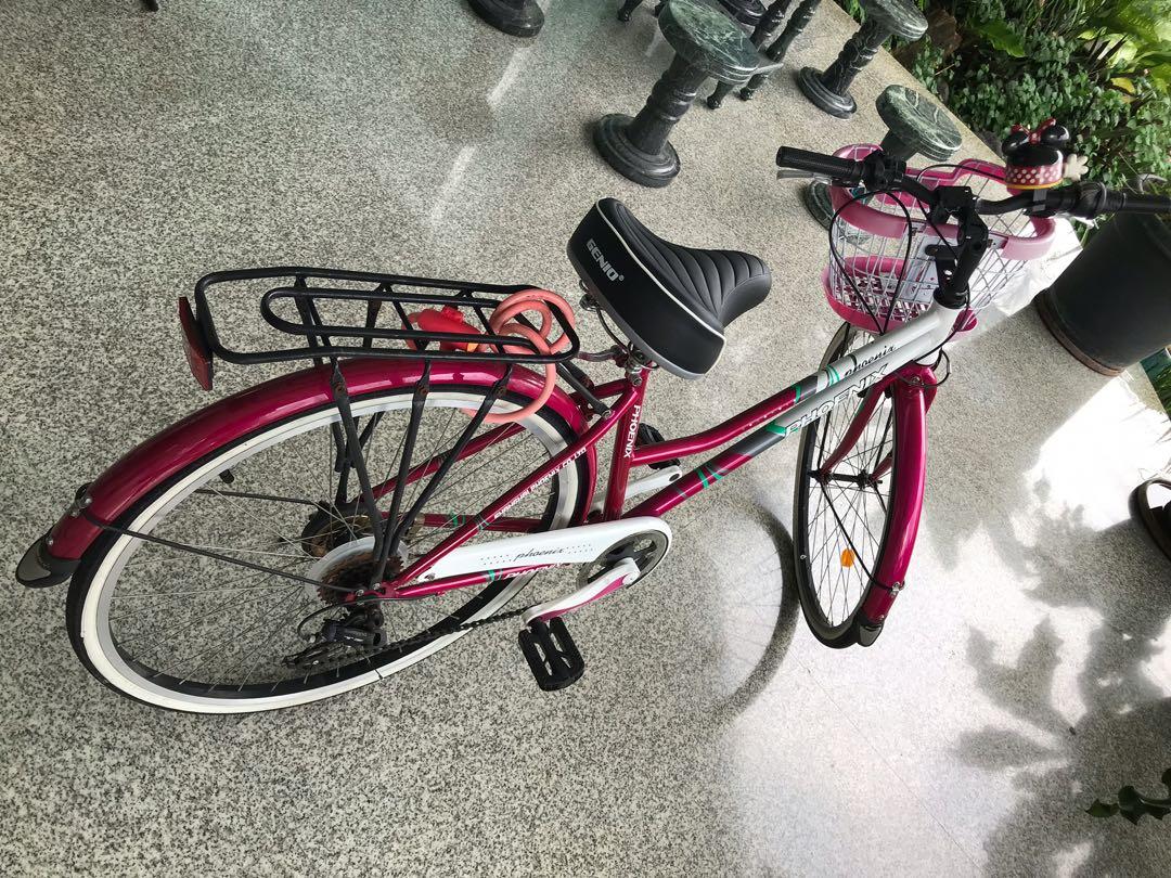 Sepeda Keranjang Phoenix Pink Bagus Modifikasi Mantap Psbb Olah Raga Sepeda Di Carousell
