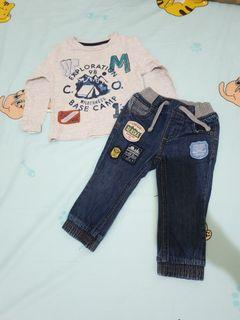 Setelan Mothercare Adventure long sleeves and jeans