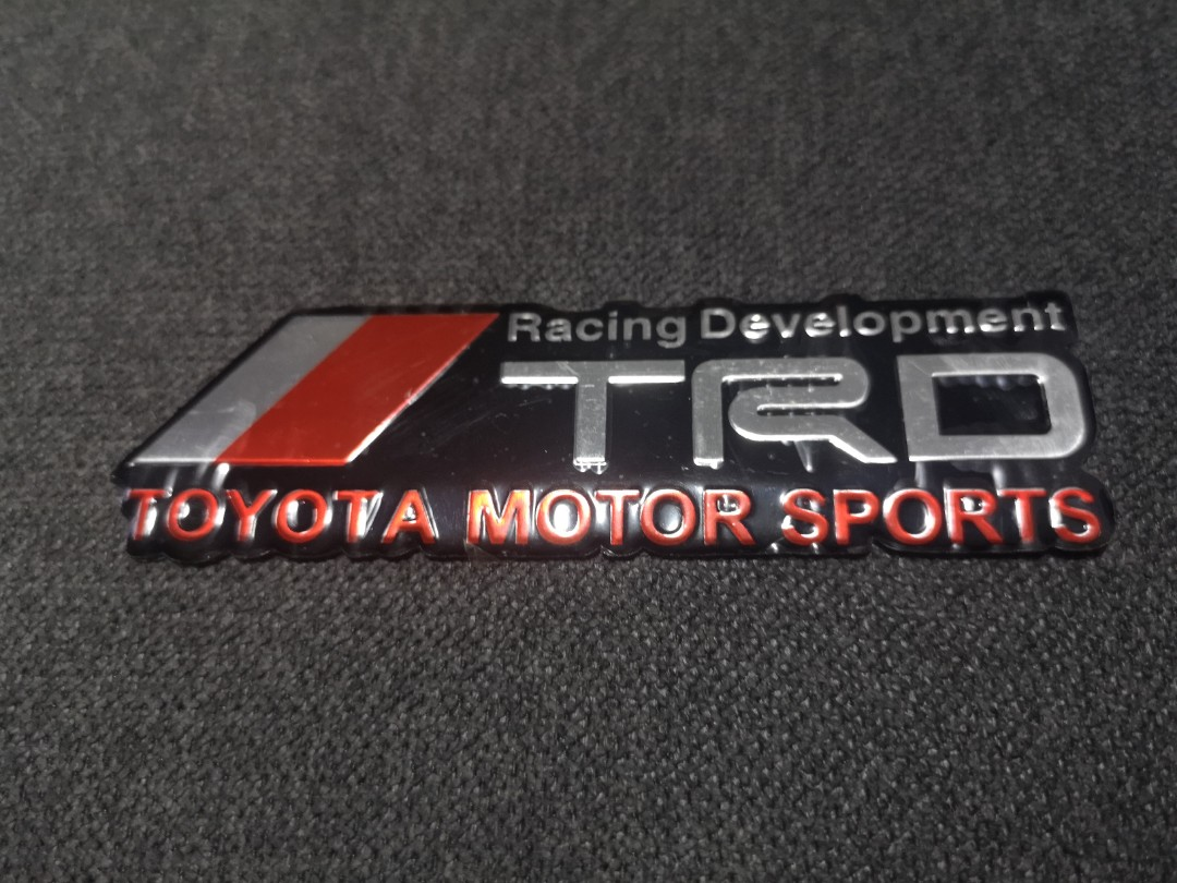 Trd Racing Development Emblem Car Accessories Accessories On Carousell
