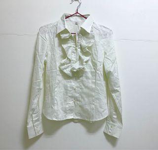 Uniqlo 淡鵝黃薄襯衫  全新