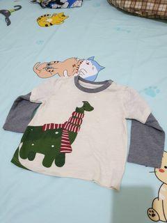 Winter Dino long sleeves top