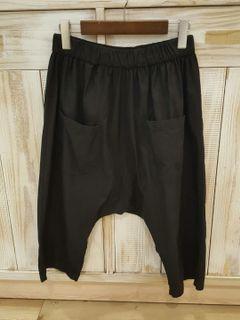 日系棉麻低檔褲