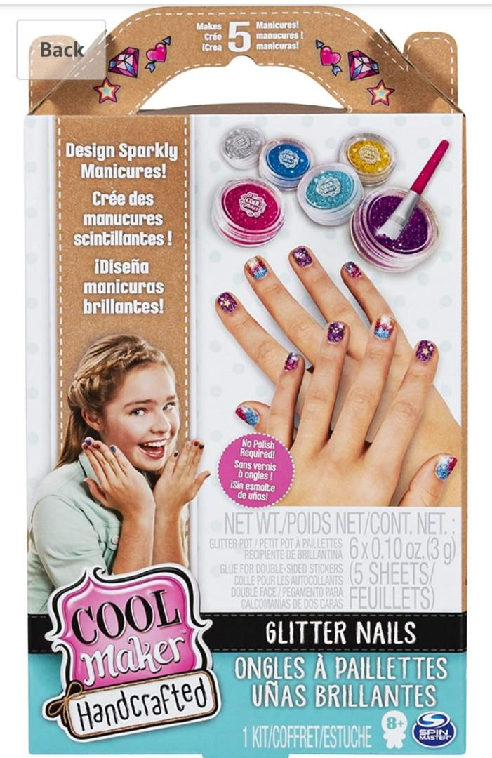 Brand New Cool Maker Handcrafted Glitter Nails Activity Kit