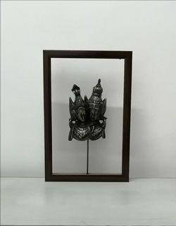 Hiasan Dinding Frame Topeng Dua Penari