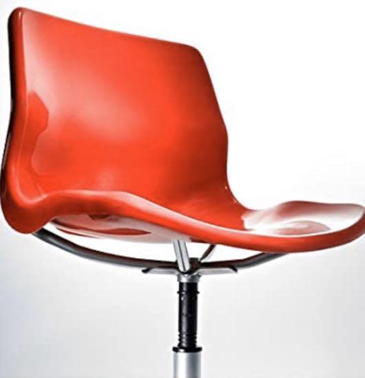 IKEA swivel red chair