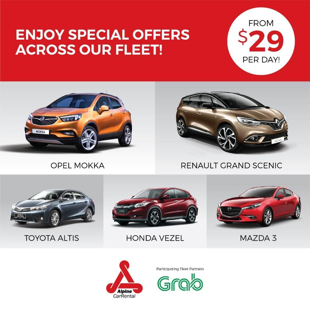 Last 3 hours!!! special Promotion for Grab Rental cars Grab Partner