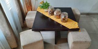 Meja dan kursi tamu minimalis, bisa untuk meja makan