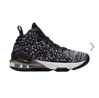 Nike Lebron 17 Black & White Sz. 5Y