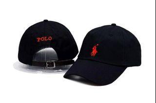 Polo黑 紅字 老帽