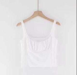 RUCHED CROPPED TANK