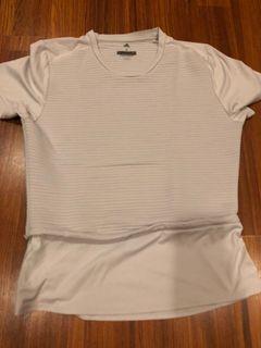 Adidas grey white top