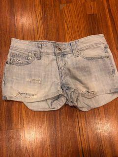 Blue denim Levi ripped shorts