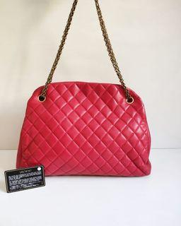 Chanel Mademoiselle Large Red Lamb GHW