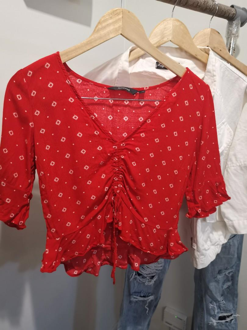 Glassons red top size 8