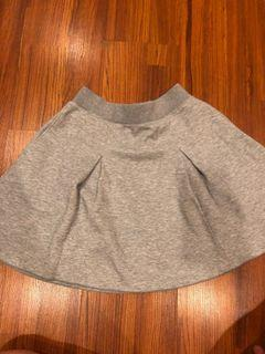 Grey Skater Skirt uniqlo