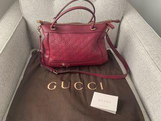 Gucci Mayfair Tote bag - Oxblood Guccissima leather