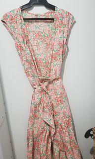 Mango pink floral dress