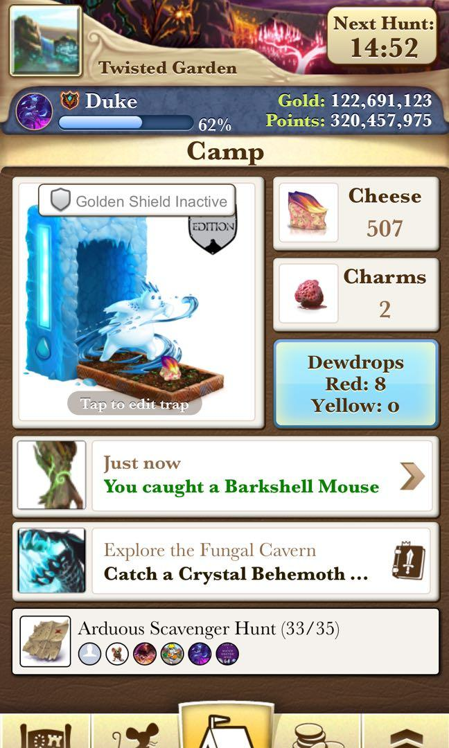 Mousehunt (hitgrab) gold / Superbrie / Empowered super Brie