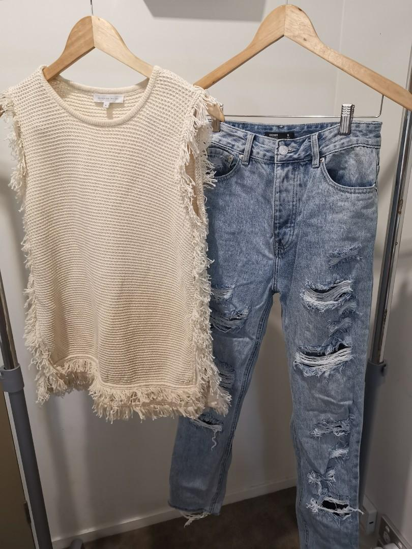 Warm white vest size M