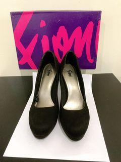 heels fioni 38 hitam black 10cm payless