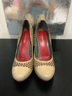 heels rotelli nude leather 37 - 38 11cm