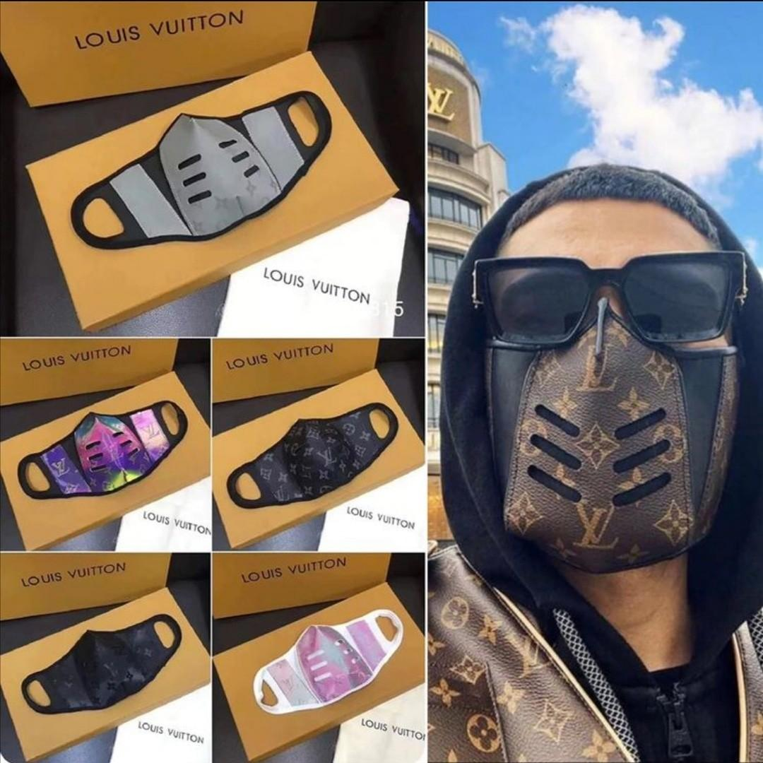 Louis vuitton face mask leather monogram
