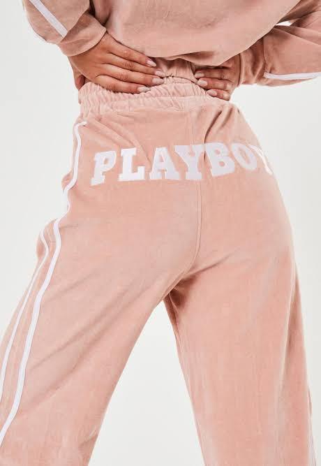 Playboy Velour Wide Leg Pants