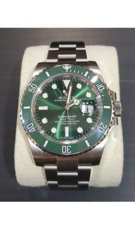 "Rolex Submariner Green ""Hulk"" 116610LV 904L Full set, box, papers"