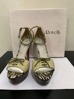rotelli heels beige open toes strap 38