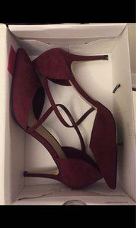 Sexy high heels aldo shoes red burgundy size 11