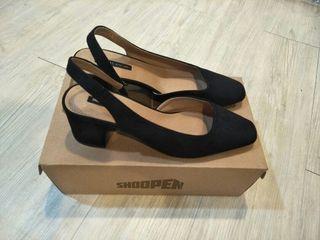 Shoopen 正韓 方頭黑色高跟鞋 #2020年中慶
