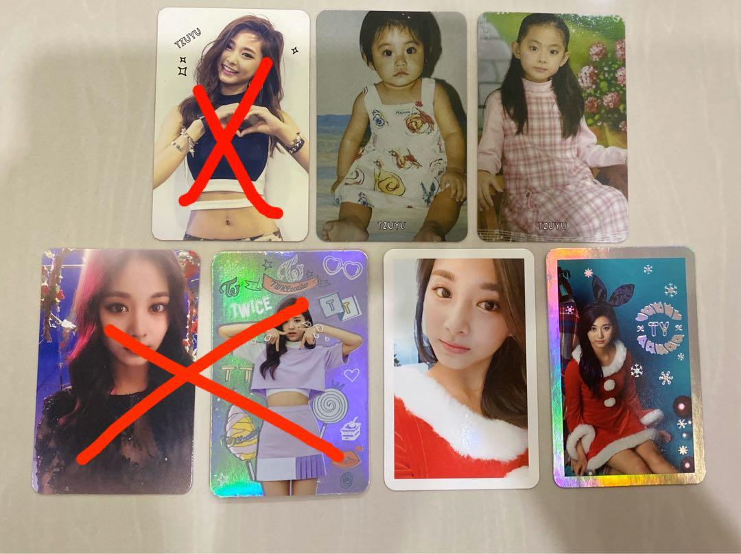 "Tzuyu ""The Story Begins"" & ""TWICEcoaster : lane 1"" & ""Lane 1 : Christmas Edition"" Photocards"
