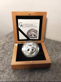 2016 Mongolian Wildlife Falco Cherrug Antique Silver Souvenir Coin Collection //B