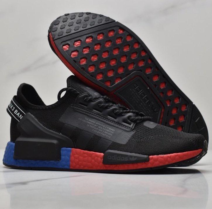 Adidas Nmd R1 V2 Black Red Men S Fashion Footwear Sneakers On