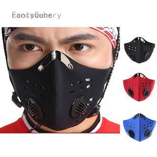 Anti Dust Bike Face Mask With Activated Carbon Man Woman Running