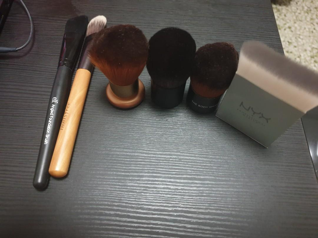 Assorted Face Brushes Mac The Body Shop Elf Nyx Health Beauty Makeup On Carousell