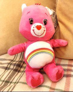 (送口罩)全新Care Bear粉紅小熊娃娃