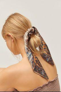 NEW Urban Outfitters Silk Scarf Scrunchie