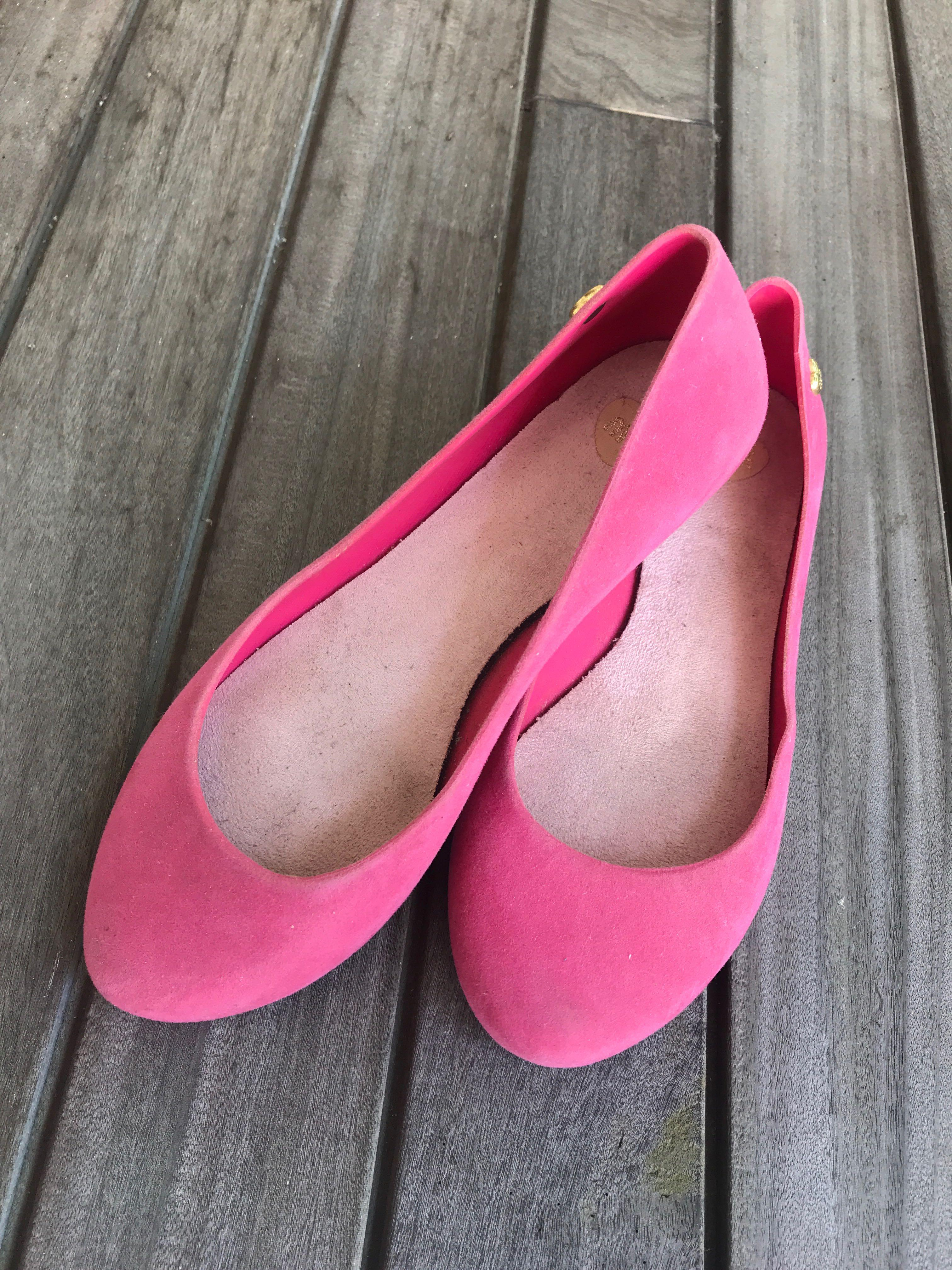 Pink flats, Women's Fashion, Shoes