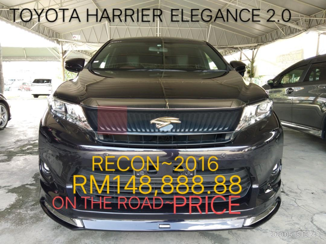 TOYOTA HARRIER 2.0 Elegance Sunroof RECORD~2016 ON THE ROAD PRICE RM148,888.88⭐👍📱🗣0⃣1⃣2⃣2⃣3⃣6⃣7⃣2⃣7⃣2⃣☺🙏
