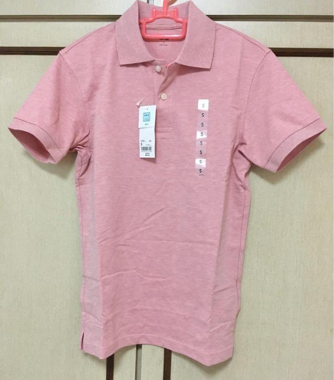 Uniqlo Men's Pique Polo - Salmon Pink (Size S)