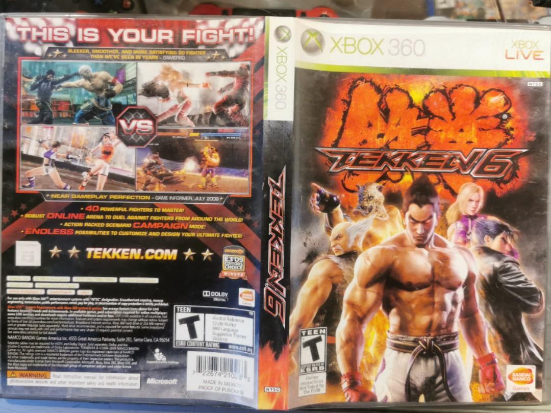 Xbox 360 Tekken 5 Toys Games Video Gaming Video Games On Carousell