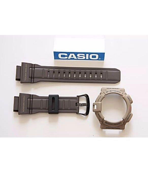 100% Authentic new sealed Casio G-Shock Earth Brown Men in Military Mudman G-9300ER-5 Watch Band and Bezel Set very rarep