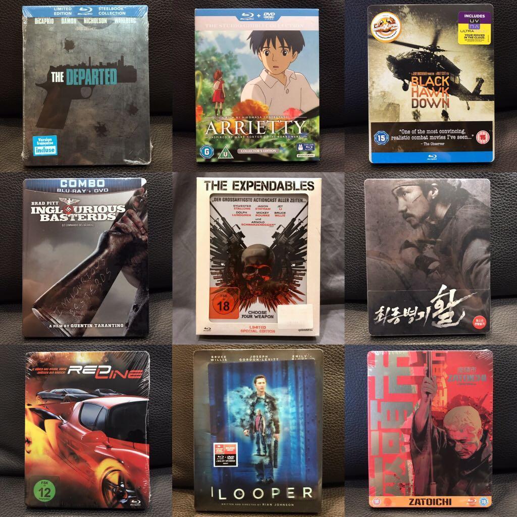 100s of Blu-ray & DVD Movies, Bluray Steelbooks. From $5.