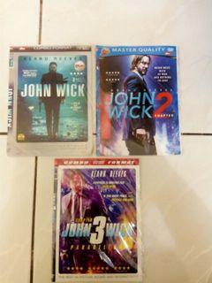 3 Kaset Dvd Thriller John Wick