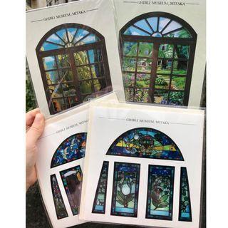 三鷹美術館 玻璃彩繪卡片 龍貓 魔女宅急便 天空之城 吉卜力 宮崎駿