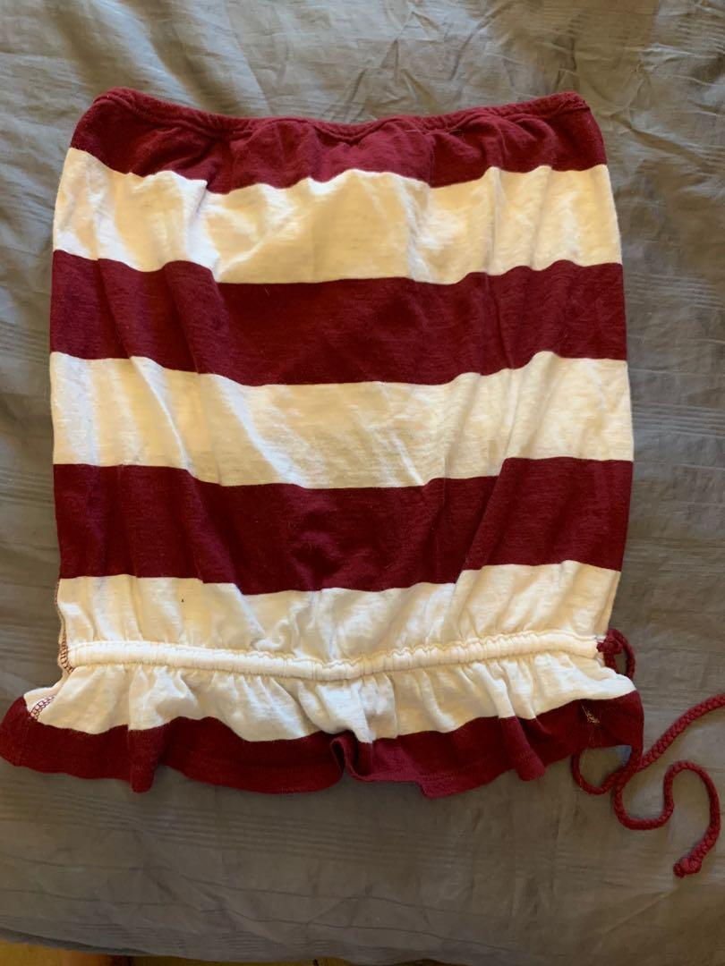 Abercrombie and Fitch Tube Top Great for Canada Day!