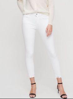 AGOLDE white crop denim - new