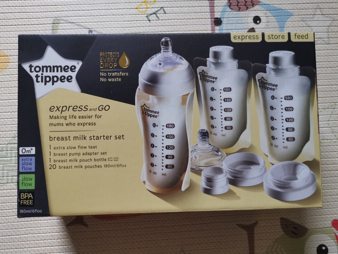 Tommee Tippee EXPRESS /& GO POUCH BOTTLE Baby Feeding BN