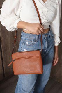 Casual Brown Mustardy Sling Bag